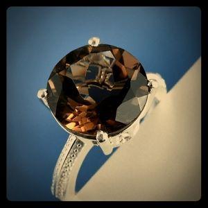 Smokey Quartz 4.30 Solitaire ring
